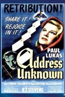 Assistir Endereço Desconhecido Online Grátis Dublado Legendado (Full HD, 720p, 1080p)   William Cameron Menzies   1944
