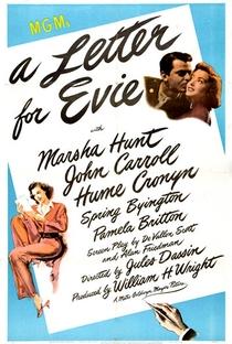 Assistir Uma Carta para Evie Online Grátis Dublado Legendado (Full HD, 720p, 1080p) | Jules Dassin | 1946